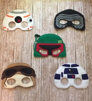Star Wars Children's Felt Masks 11 to Choose From ! For Dress up or Halloween