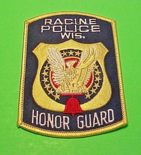 "RACINE  WISCONSIN  WI  HONOR GUARD 4 1/4""  POLICE  FREE SHIPPING!!!"