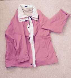 Pink & Cream Regatta Waterproof Outdoor Coat size 18 Walking Equestrian