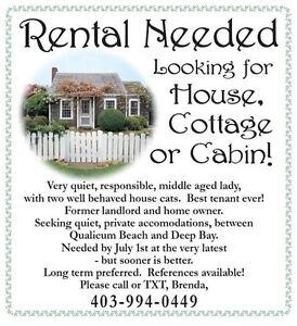 Seeking house, cottage or cabin