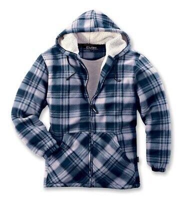 Elutex Winter Thermojacke Vancouver blau warmhaltendes Polyester-Fleece aussen