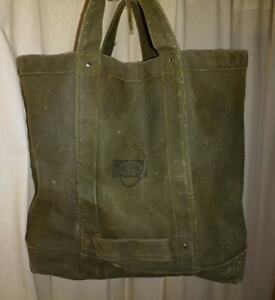 VINTAGE heavy canvas tote
