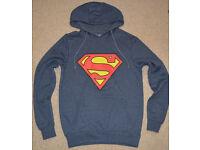 SUPERMAN blue Adult unisex TV cartoon size S men Ladies Hoodie hooded sweatshirt