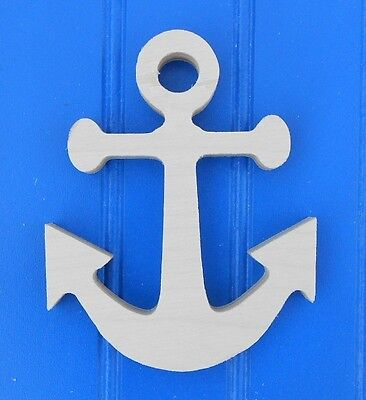 Anchor Unfinished Wood Wooden 24 Plaque Nautical Shapes Crafts Kids Room Decor