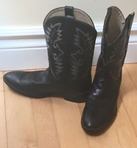 Dan Post Youth Boots  - black leather - youth size 5.5