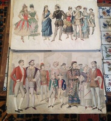 Collection of 80 Outstanding Original Hand Colored French Fashion Prints Album