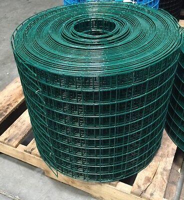 Pvc Coated Welded Wire Mesh 1.5x1.5 16 G 15x150 Green Gaw