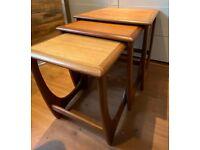 VINTAGE MID CENTURY G PLAN ASTRO TEAK NEST OF TABLES KAI KRISTIANSEN 1960's