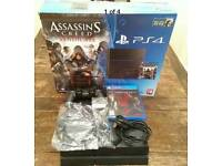 PS4 (Sony PlayStation 4), Jet Black, 500 GB + Metal Gear Solid V: The Phantom Pain