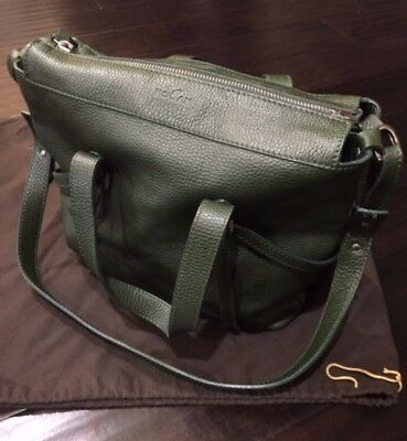 Tods Authentic ( Hogan) Green Leather Handbag-Retail $1199.00