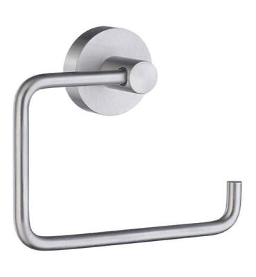 Smedbo HS341 To the quick Toilet Roll Euro Holder Without Lid, Brushed Chrome