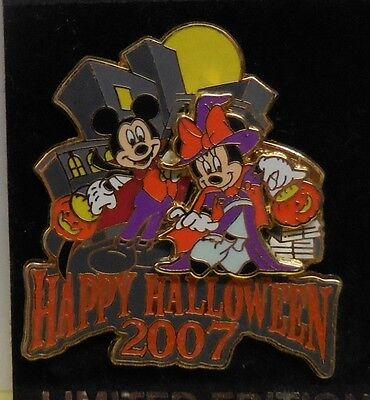 Happy Halloween Nyc (Disney Pin WOD NYC Happy Halloween 2007 Mickey & Minnie Pin New)