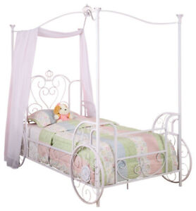 Powell Princess Emily Carriage Canopy Twin Size Bed Frame