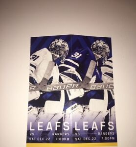 2 Maple leafs vs Rangers Tickets - price is for both