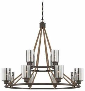 Savoy House 1-5152-12-32 Maverick 12 Light 40 inch Artisan Rust Chandelier Ceiling Light NEW