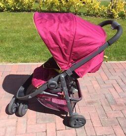 Graco evo mini very berry stroller pram buggy