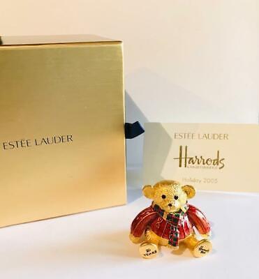 "2005 Estee Lauder/HARRODS Beautiful ""HARRODS HOLIDAY TEDDY BEAR"" Solid Perfume"