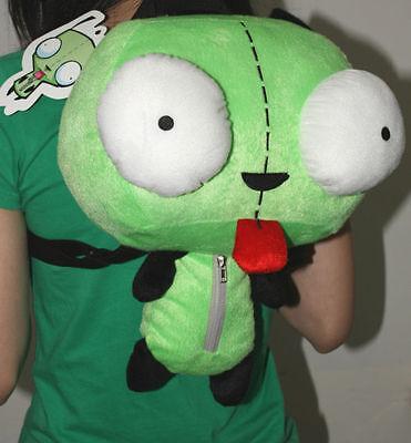 Green Alien Invader Zim Gir Stuffed Plush Backpack Bag 14 inch (Invader Zim Gir Plush)