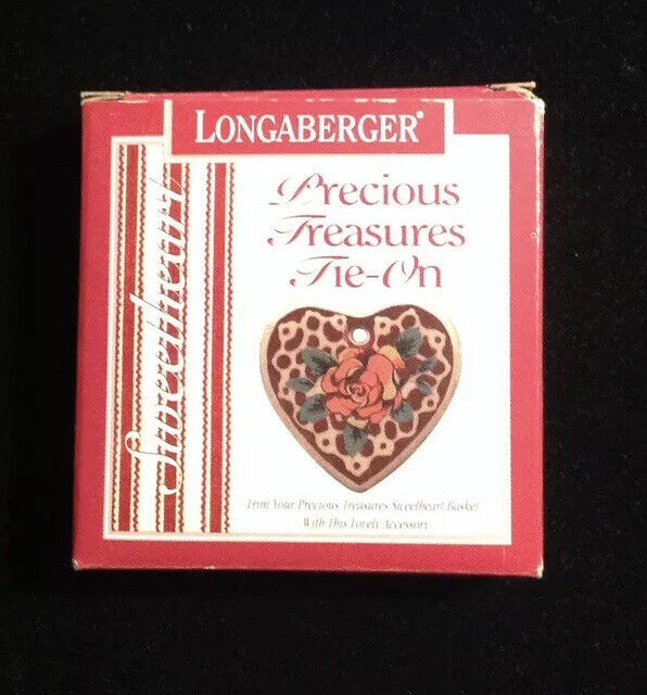 Longaberger 1993 Sweet Sentiments Basket Tie-On