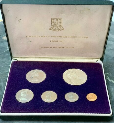 1973 First Coinage of the British Virgin Islands Proof Set (s10)