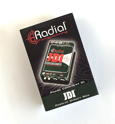 Radial JDI direct box BEST PASSIVE DI MADE Jensen Transformer -NEW- Make