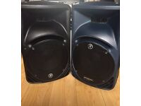 2 Mackie Speakers plus Bags Stands Also Alesis 8 channel mixing desk £350