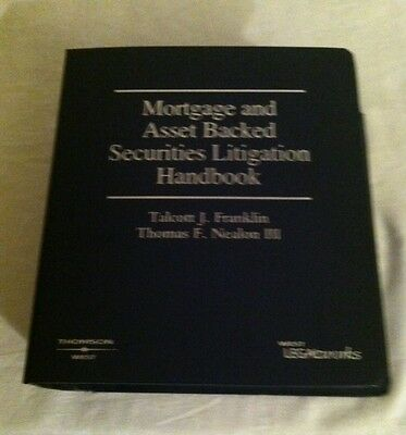 Mortgage And Asset Backed Securities Litigation Handbook  2012 Material