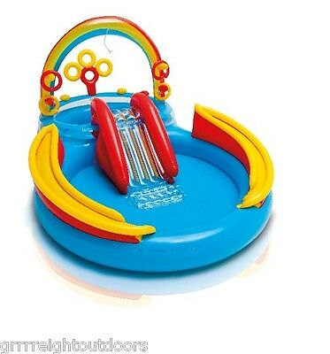 INTEX Inflatable Kids Rainbow Ring Water Play ...