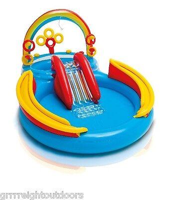 INTEX Inflatable Kids Rainbow Ring Water Play ...