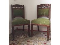 Lovely pair of antique hall chairs