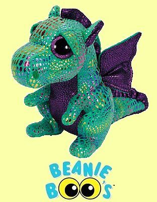 Ty  12  Cinder Beanie Boos  Medium Dragon   From Our Mythical Animals Stock