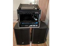 Band's PA kit: 1000W passive PA + Mackie 14 channel mixer + Lexicon MPX 110 reverb!