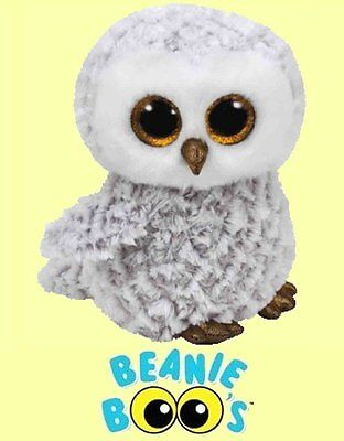 Ty  6  Owlette Beanie Boos  Small Gray Owl   From Our  Aviary Stock