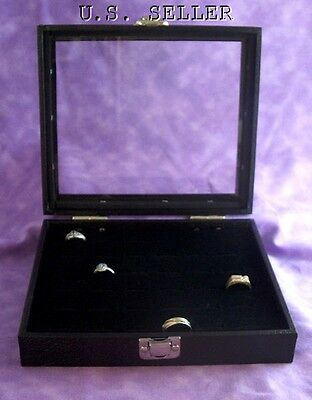 36 Ring Glass Top Jewelry Display Case Box