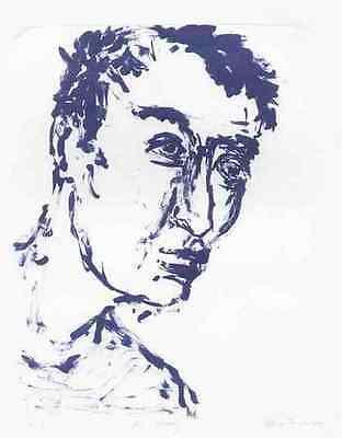 Mr.WOODY 2000 - Bettina FRANKE - Handsignierte OrigLithographie ( LEIPZIGER HS )