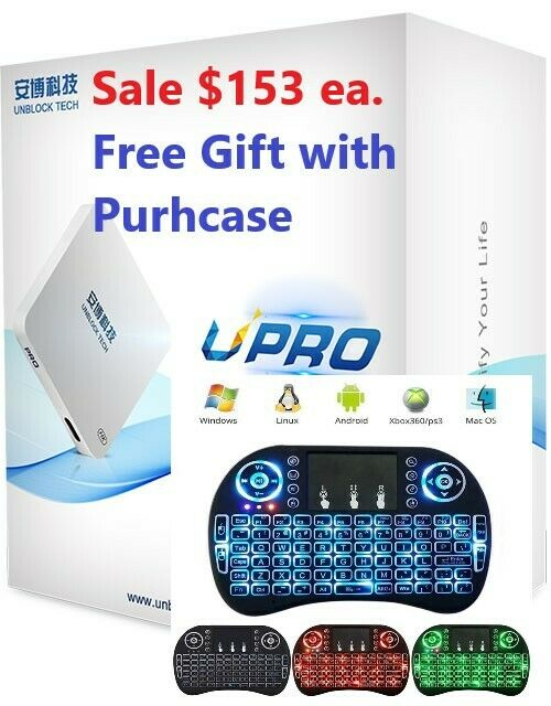 NEW UNBLOCK TECH UPRO2 UBOX PRO2 Android 4K TV Box GEN 6 ROOT  - $153.00