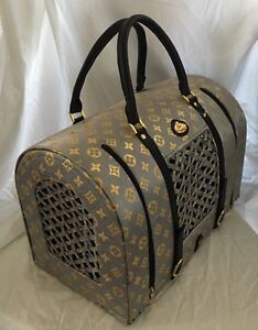 Louis Vuitton-Inspired Dog/Cat carrier by La Dosha West Island Greater Montréal image 7