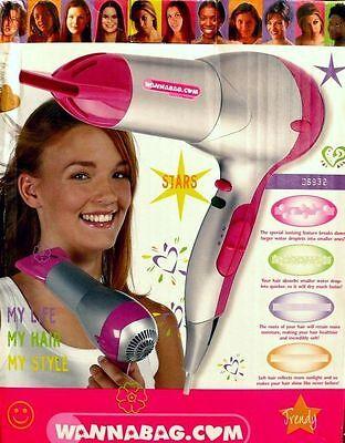 Bestron DS932 Kids Haartrockner Haarstyler fön Hairdryer Lonisator IONIC 1800W