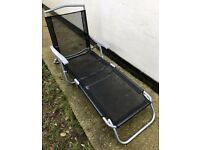 Pair of Fold Up Garden Sun Loungers