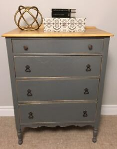 VINTAGE 4 DRAWER TALLBOY