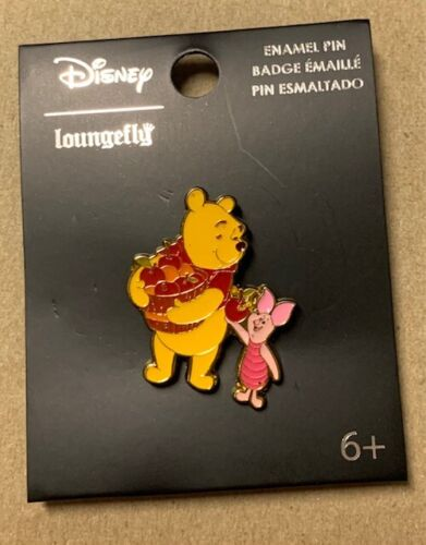 """Loungefly Disney 1.25 """" Winnie the Pooh Autumn Apples with Piglet Enamel Pin"""