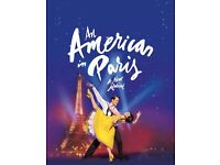 2 x Tickets for An American in Paris Tuesday August 22, 7:30pm
