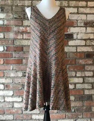 cd4f361e755d Anthropologie Maeve Small Westwater Knit Dress Drop Waist Chevron Multi  Color