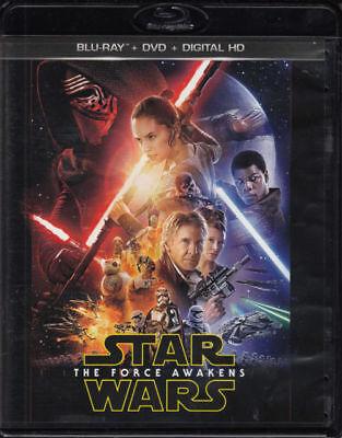 Star Wars: The Force Awakens (Blu-ray/DVD, 2016, 3-Disc Set, Digital Copy) New