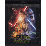 Star Wars: The Force Awakens (Blu-ray/DVD, 2016, 3-Disc Set, Digital Copy) New