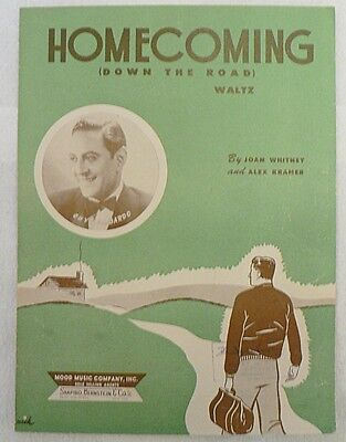 "SHEET MUSIC "" HOMECOMING "" DATED 1949"