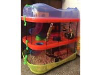 Imac fantasy cage, toys, food, accessories and male dwarf hamster worth £150