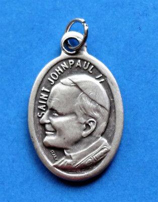 Pope John Paul Medal - Pope John Paul II Beatification / Pray for Us Oxidized Medal (7/8