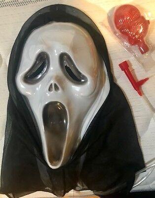 Mask Bleeding Halloween Scream Fancy Dress Scary Blood Pump Hooded - Scream Blood Mask