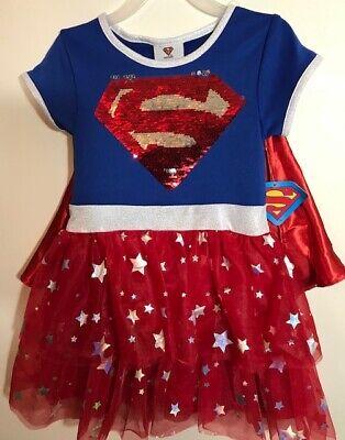 Dress Up Superhero (Supergirl Costume Dress Up Childs Deluxe Girls DC Comics Superhero)
